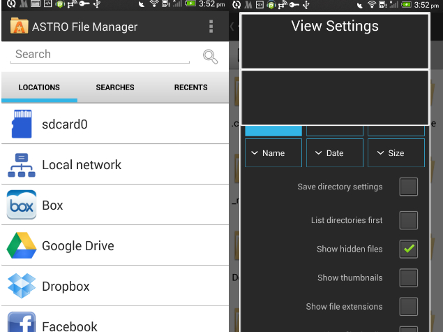 How to find hidden files on android