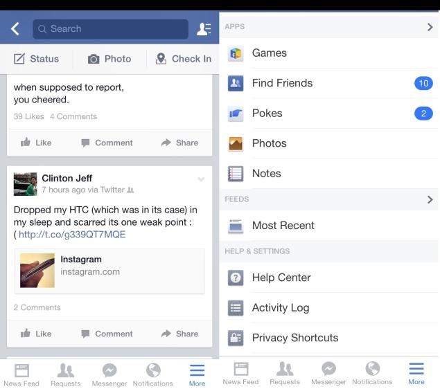 Facebook posts not updating