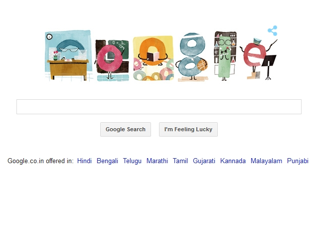 Google Goes Back to School With Teacher's Day Doodle
