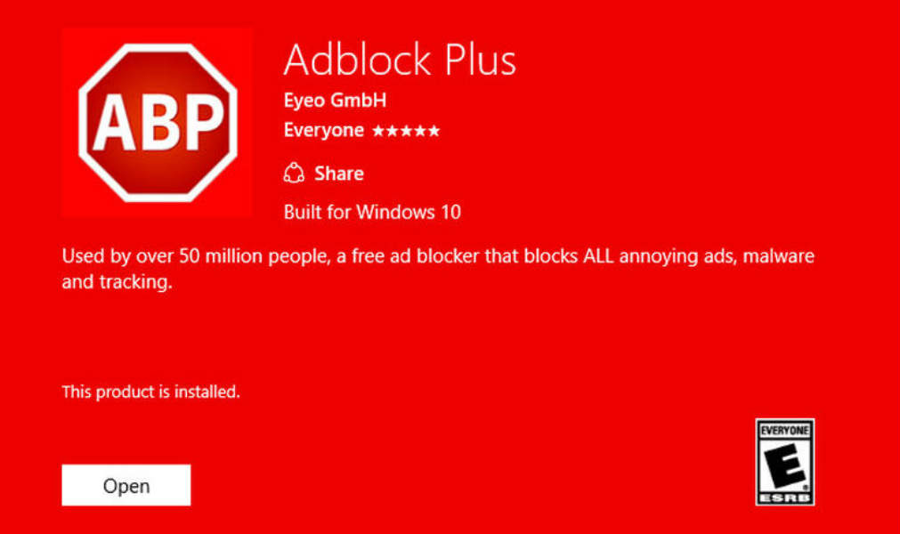 Microsoft Edge Browser Gets AdBlock and Adblock Plus Extensions
