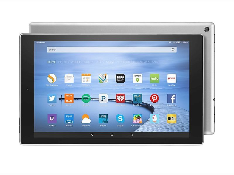 Amazon Fire HD 10 Silver Aluminium With 64GB Storage Launched at $229