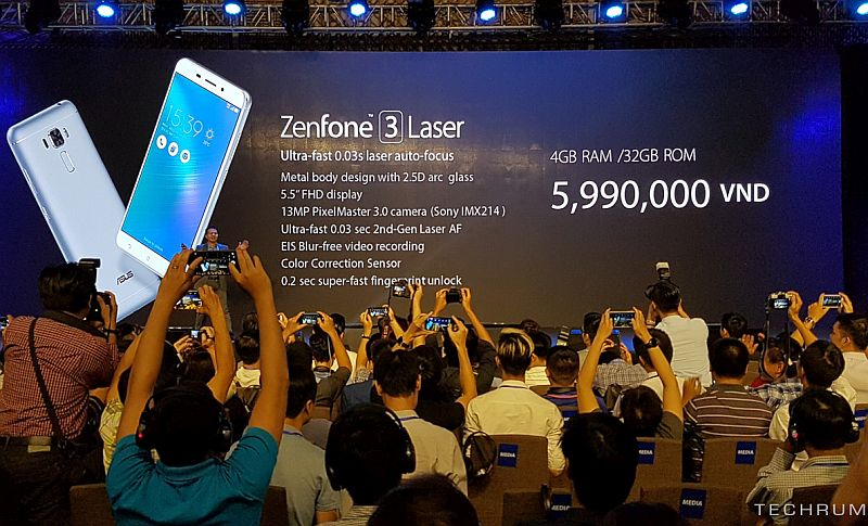 Asus ZenFone 3 Laser and ZenFone 3 Max Launched