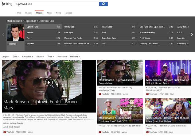 Bing Video Search Revamp Brings Better Song Search, Bigger Images, and More