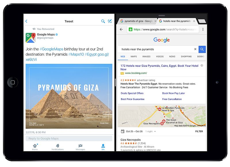 Chrome for iOS Update Adds Split View Multitasking Support for iPad