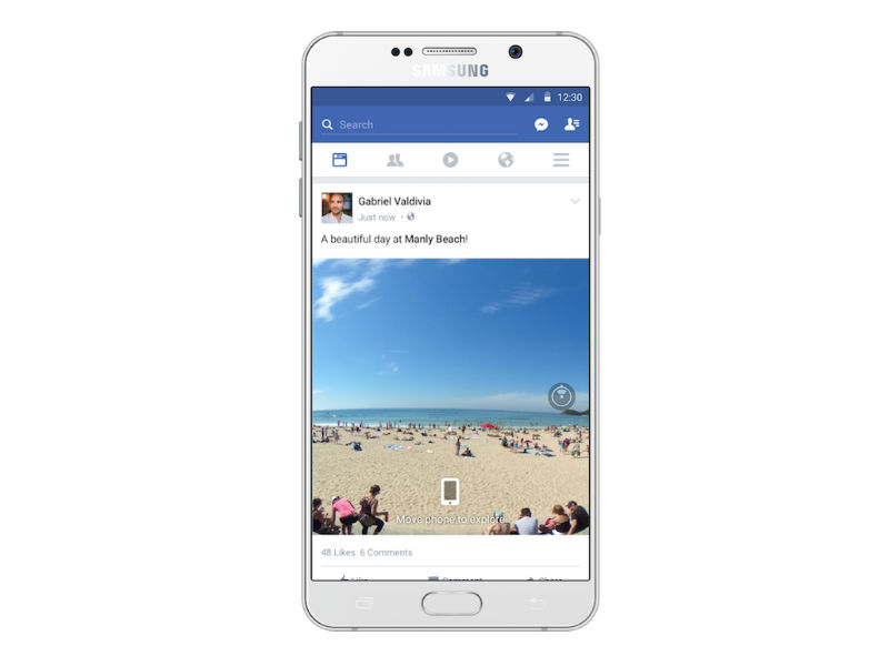Facebook to Bring 360-Degree Photos to News Feeds Soon