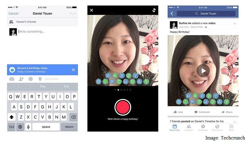 Facebook Now Lets You Wish Friends Happy Birthday With a Video Message