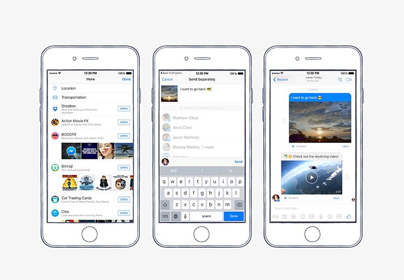 Facebook Messenger Gets Dropbox File Sharing, Video Chat Heads