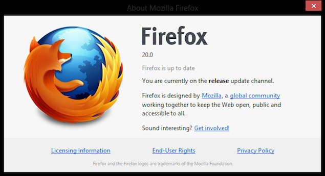 Mozilla Firefox 20 brings enhanced private browsing, new download manager