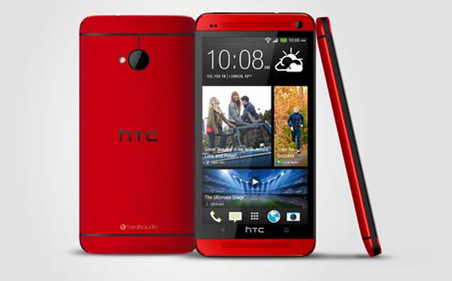 HTC One makes an appearance in 'Glamour Red'