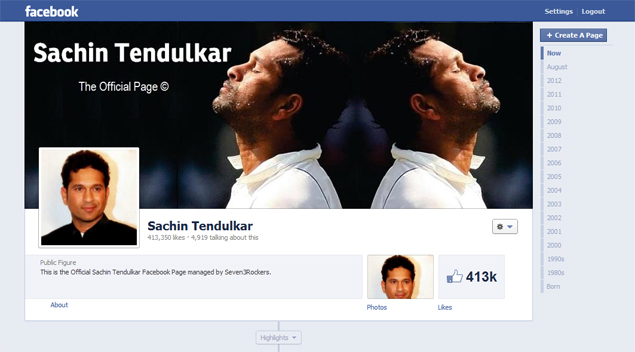 Sachin Tendulkar joins Facebook; gets 4 lakh likes within hours