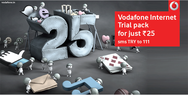 Vodafone India launches Internet trial packs for 2G, 3G subscribers