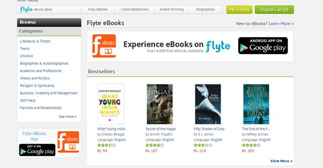 Flipkart launches Flyte eBooks store for Android