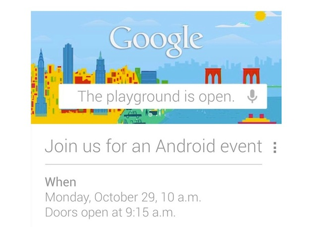 Google cancels October 29 Android event due to Hurricane Sandy