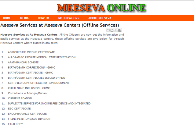 Andhra to share Mee Seva e-governance service with others states