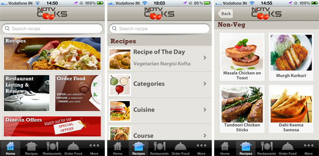 The NDTV Cooks app brings out the foodie in you