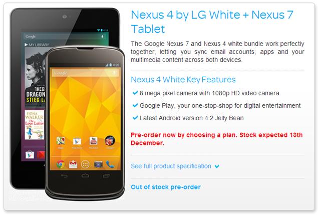 Google Nexus 4 may soon get a white colour option