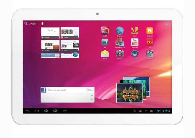 10-inch tablet Videocon VT10 with Android 4.1 available online for Rs. 11,200