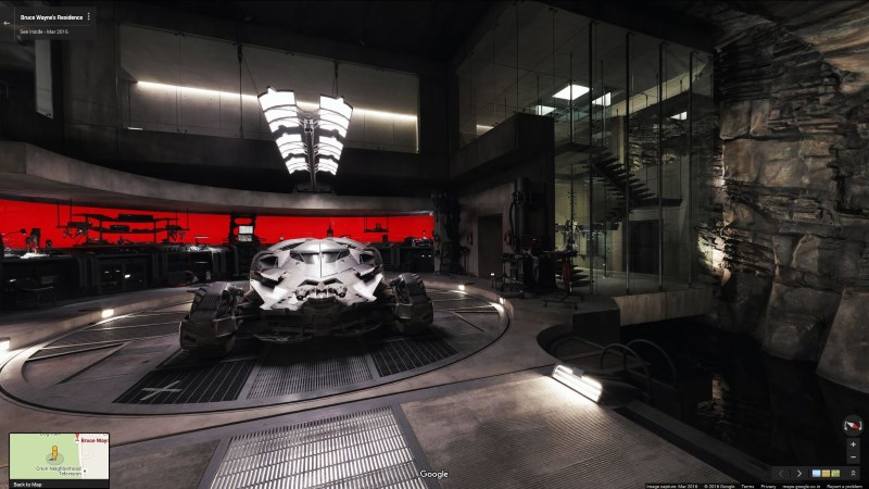 Tour Bruce Wayne's Home and Batcave in Virtual Reality With Google Maps