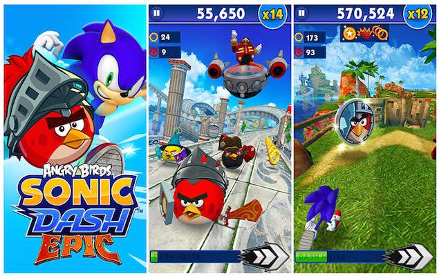 rovio partners with sega for sonic dash launches angry birds fight