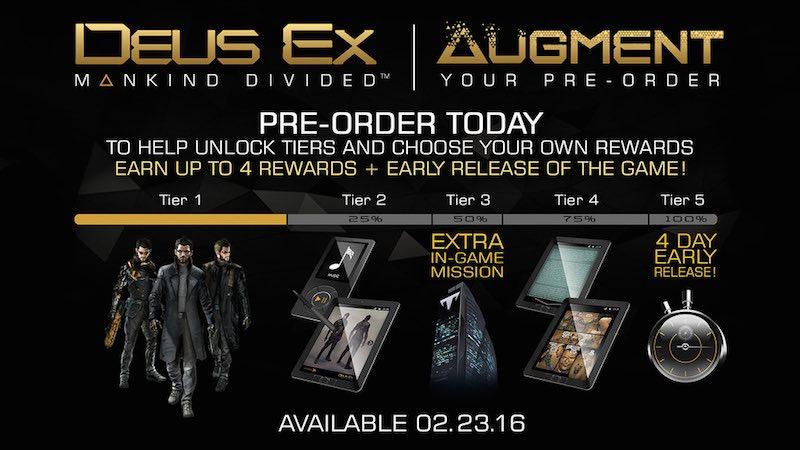 Deus Ex: Mankind Divided Release Date, Pre-Order Bonuses Announced