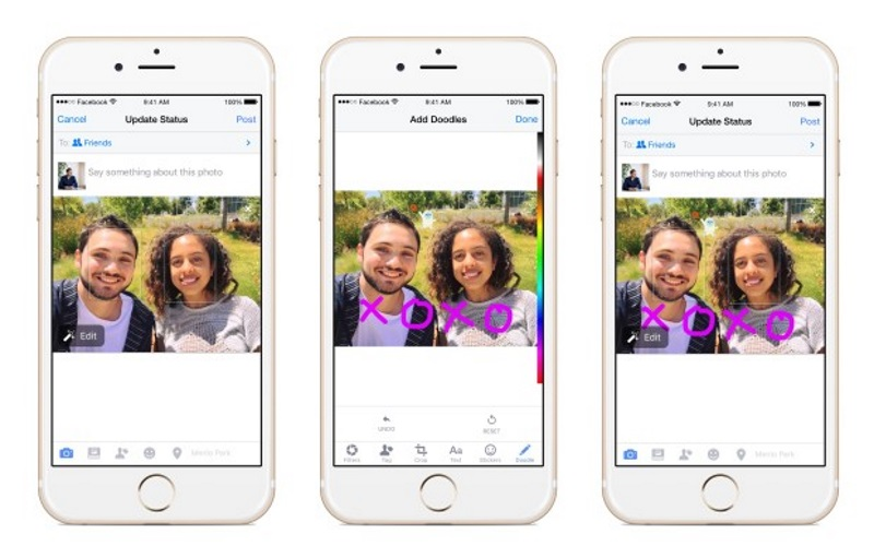 Facebook App Users Can Now Doodle on Images