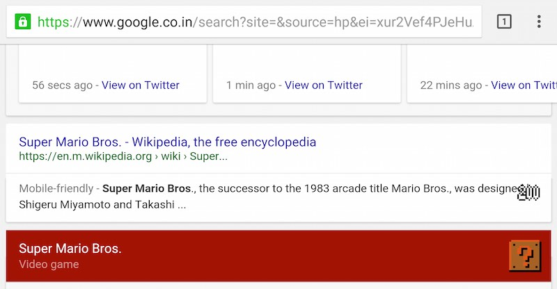 Super Mario Bros  30th Anniversary Google Easter Egg