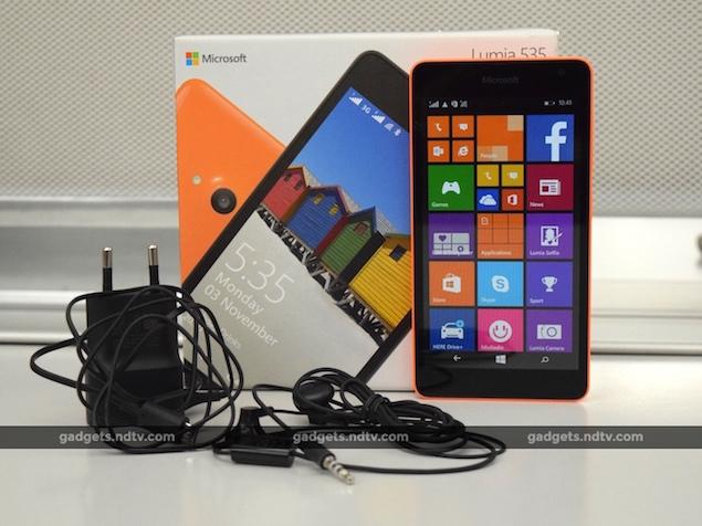 500,000 Microsoft Lumia 535 Units Shipped to India Since Launch: Report
