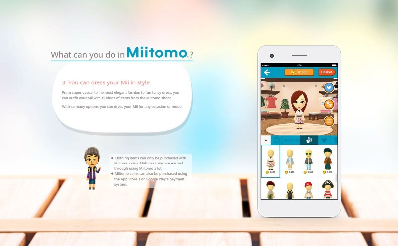 Nintendo's Miitomo Hits Japan on March 17