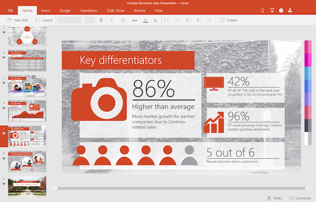 Microsoft Unveils Universal Office Apps for Windows 10 Phones, Tablets