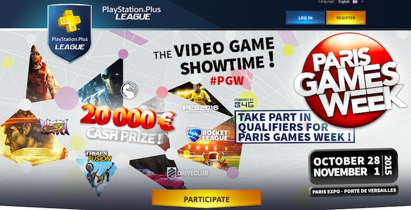 PlayStation Plus League for E-Sports Set to Launch at Paris Games Week