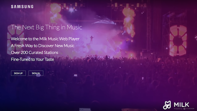 Samsung Milk Music Streaming Service Available for Free on the Web