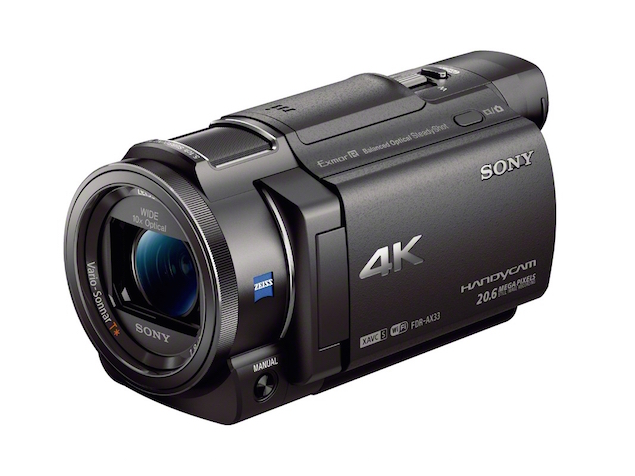 sony fdr ax33 compact 4k handycam launched at ces. Black Bedroom Furniture Sets. Home Design Ideas