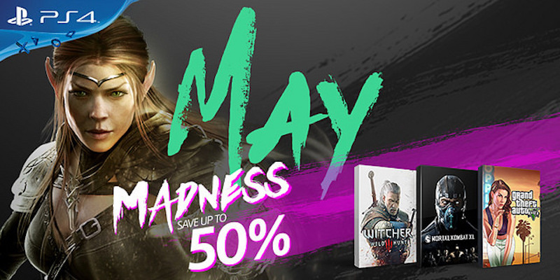 PS4 May Madness Sale Discounts GTA 5, The Witcher 3, and More