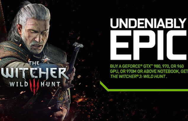 The Witcher 3: Wild Hunt Bundled With Select Nvidia Graphics Cards