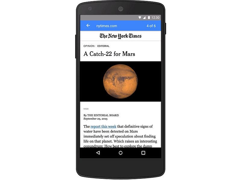 Google's Answer to Facebook Instant Articles Coming 'Early Next Year'