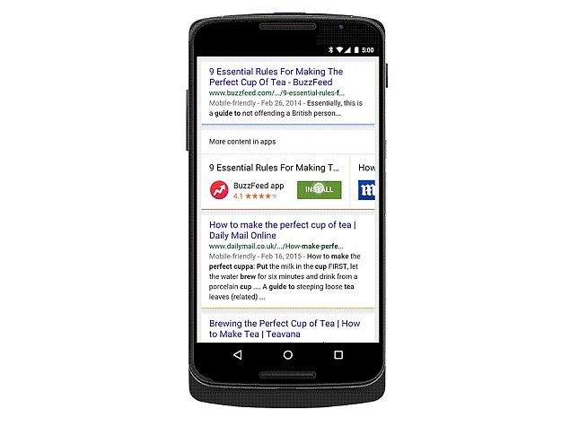 Google Search on Android Now Prompts Relevant App Installs in Results