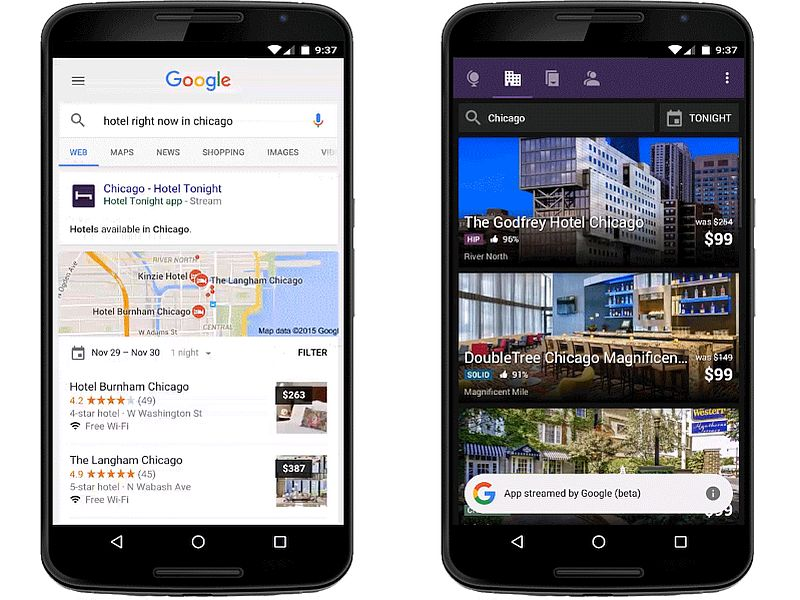 Google Now Lets You Stream Android Apps From Mobile Search Results