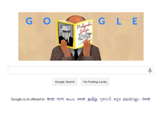 RK Narayan's 108th Birthday Marked by Malgudi Days Doodle