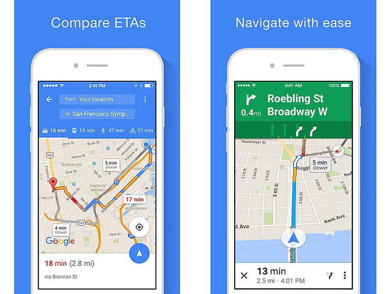 Google Maps for iOS Gets Offline Navigation Support and More