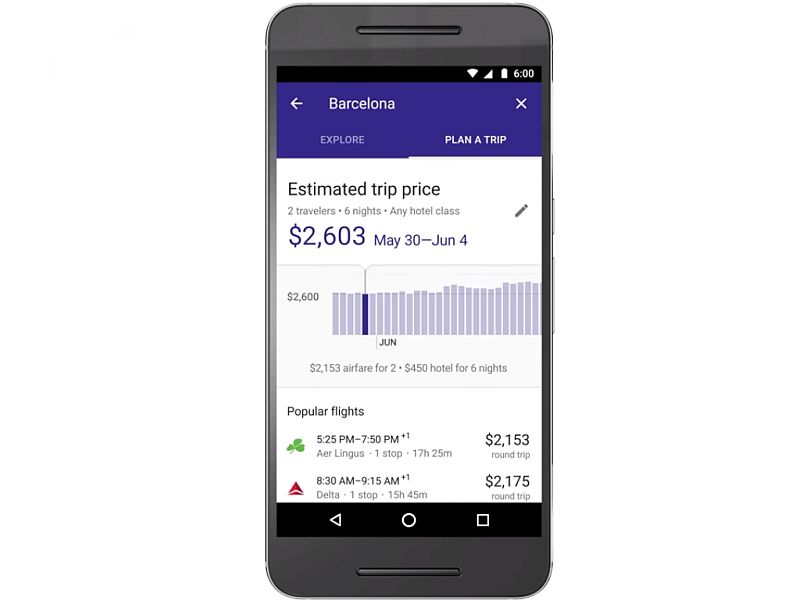 Google Search 'Destinations' Helps You Plan Entire Vacations on Mobile