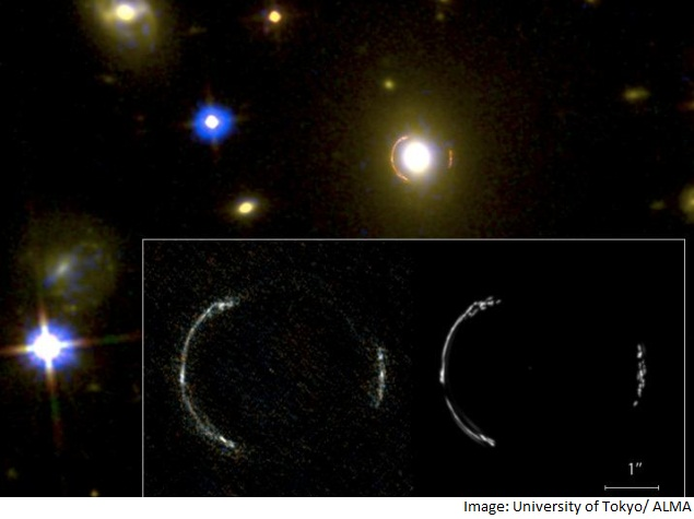 Inner Structure of Galaxy at Edge of Universe Depicted in Unprecedented Detail