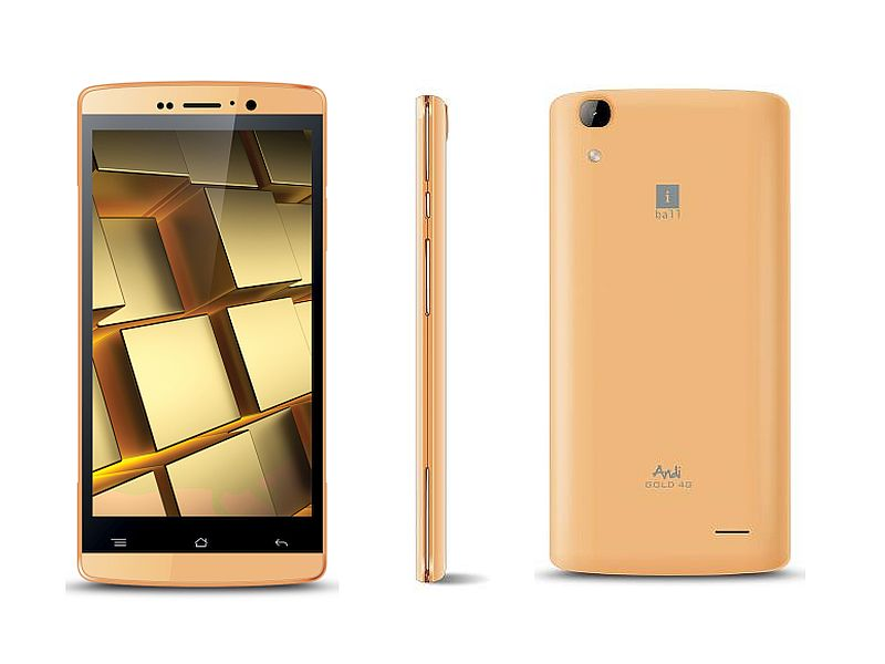 iBall Andi 5Q Gold 4G With 3000mAh Battery Launched at Rs. 6,799