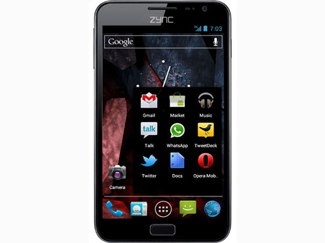 Zync launches 5-inch Z5 with Android 4.0 for Rs. 9,490