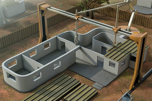 New giant 3d printer can build a house in 24 hours for Build a 3d house online