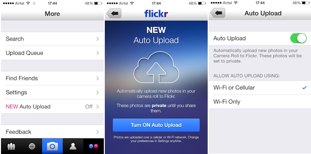 Flickr for iPhone update brings a great new way to automatically backup your photos