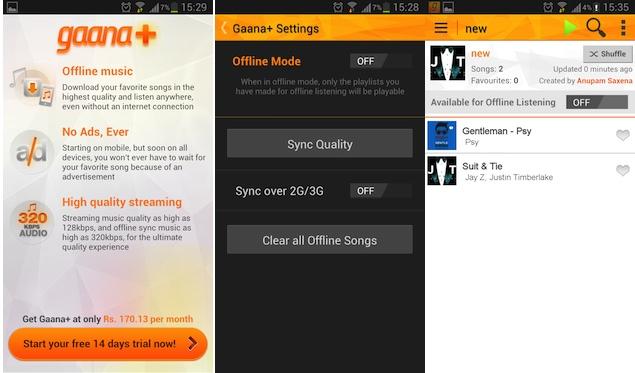 Gaana.com brings Gaana+ premium music service to Android