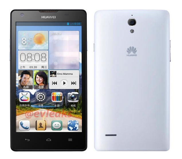 Huawei Ascend G700 Surfaces Online In Leaked Press Renders