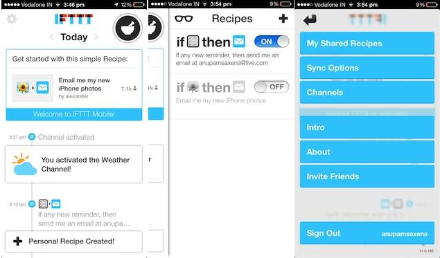 IFTTT iPhone app review