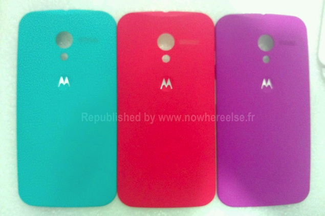 Purported pictures of Moto X back panels surface online