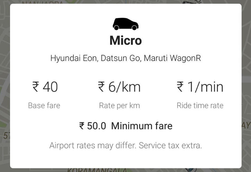 Ola Undercuts Uber With Micro Cabs At Rs 6 Per Kilometre